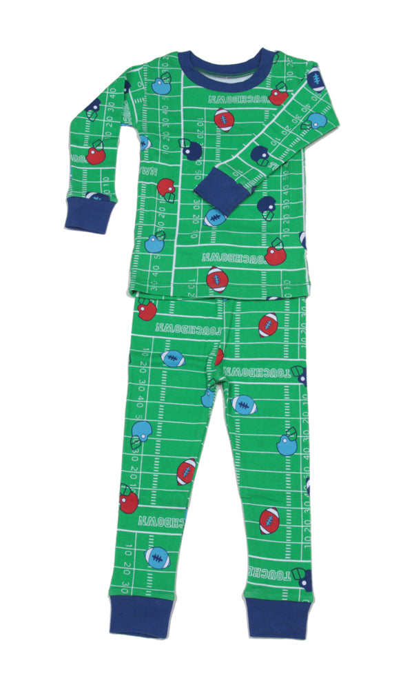 Football Organic Pajamas Blue/Red