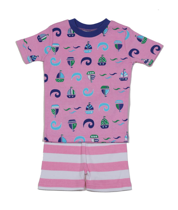 Sailboat N'Waves PJ Short Set