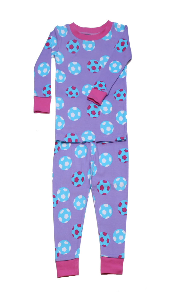 Girls Soccer Organic Cotton Pajamas