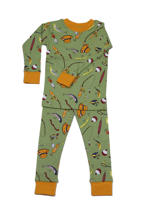 Gone Fishin' Boys Organic Cotton Pajamas