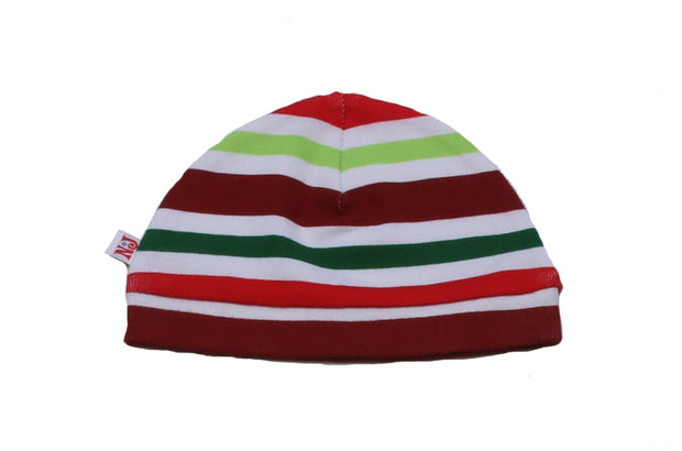 Organic Beanie Holly Jolly Stripes