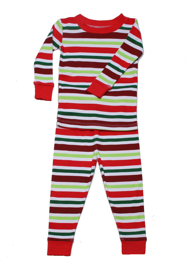 Holly Jolly Stripes Organic Pajamas