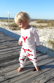 Lobster Applique Organic Pajamas
