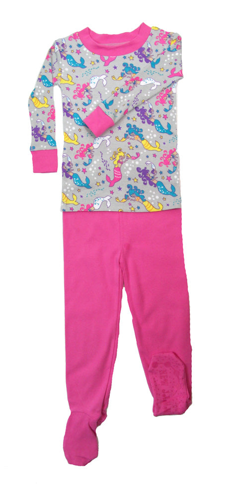 Mermaid Mamas Organic Cotton Footed PJ Set