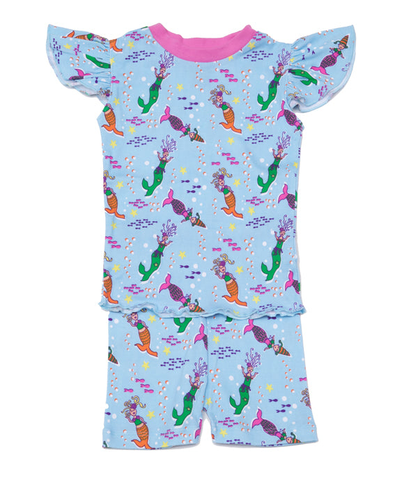Mermaids Girls PJ Short Set