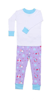 Snow Owls Lavender PERSONALIZED Pajamas