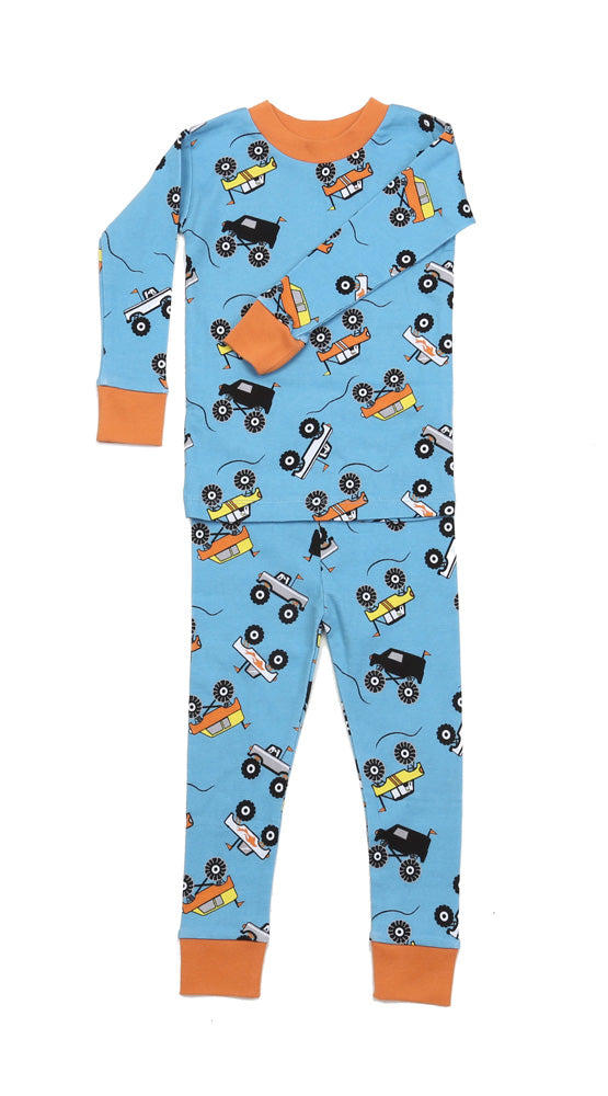 Monster Trucks Organic Cotton Pajamas