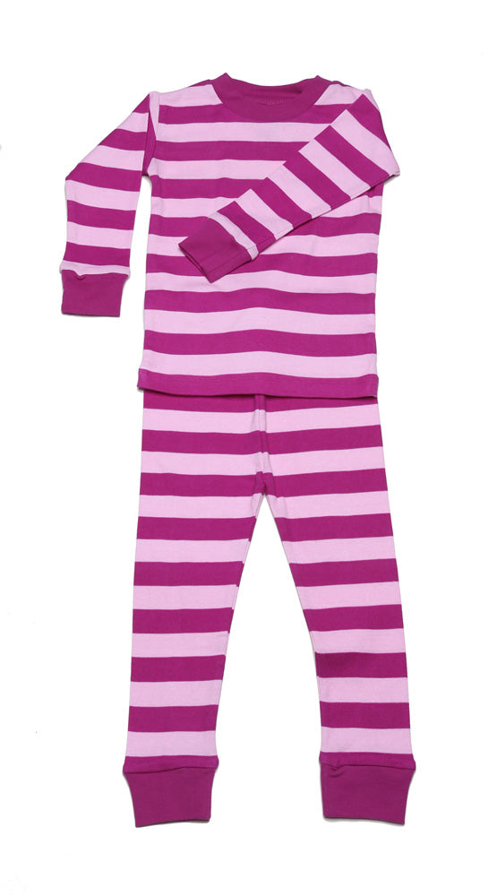Classic Stripes Organic Cotton Pajamas Mulberry