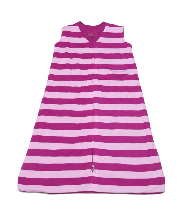 Classic Stripes Organic Wearable Blanket Mulberry
