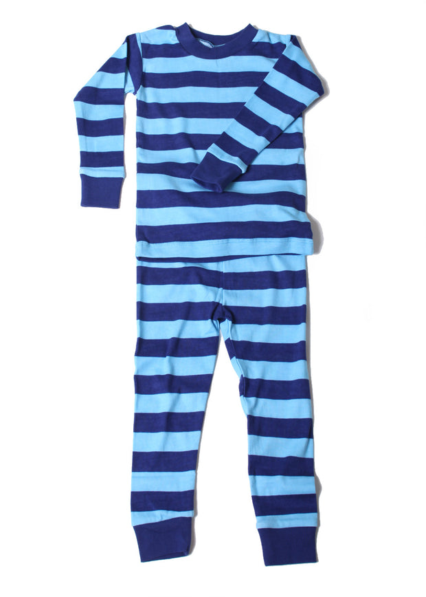 Classic Stripe Organic Cotton Pajamas Blue