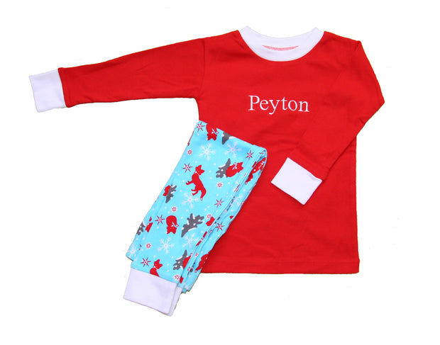 Winter Fox Organic PERSONALIZED Pajamas