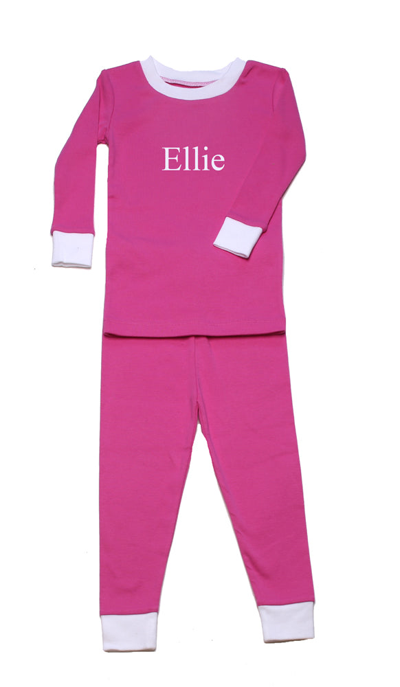 PERSONALIZED Simply Fuschia Organic Pajamas