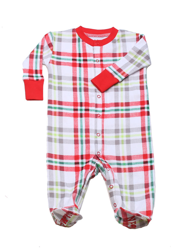 Winter Plaid Organic Footie