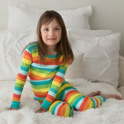 Rainbow Stripes Organic Cotton Pajamas