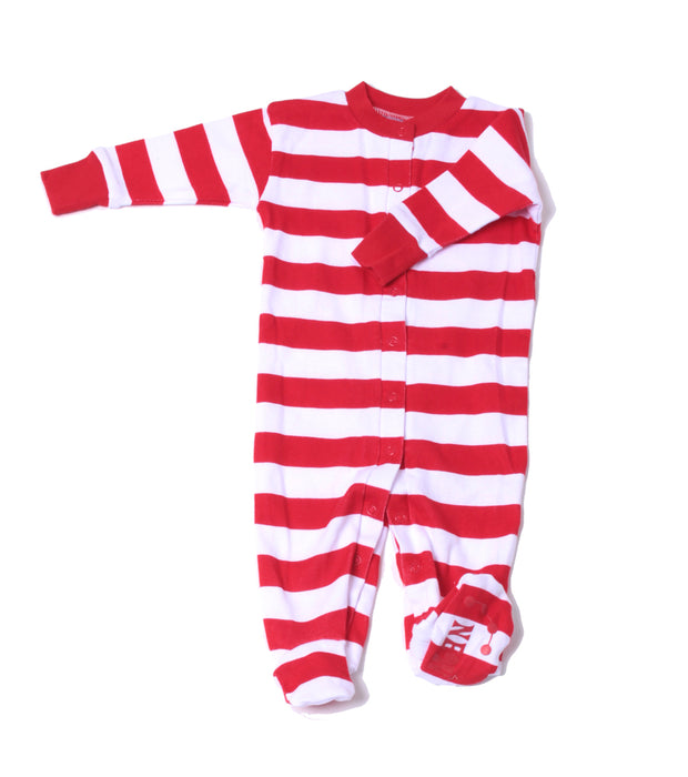 Classic Stripe Organic Footie Red/Wh/Rd