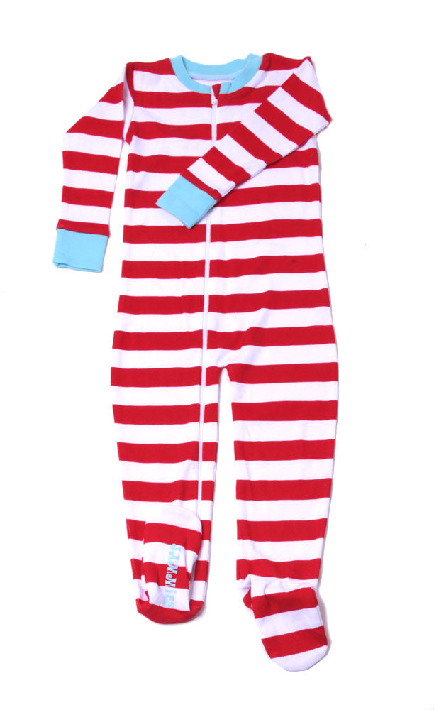 Classic Stripes Toddler Footie Red/Wh/Bl