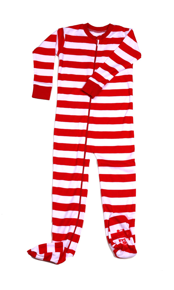 Classic Stripes Toddler Footie Red/Wh/Red