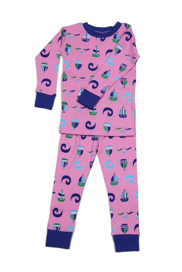 Sailboat N'Waves Organic Cotton Pajamas