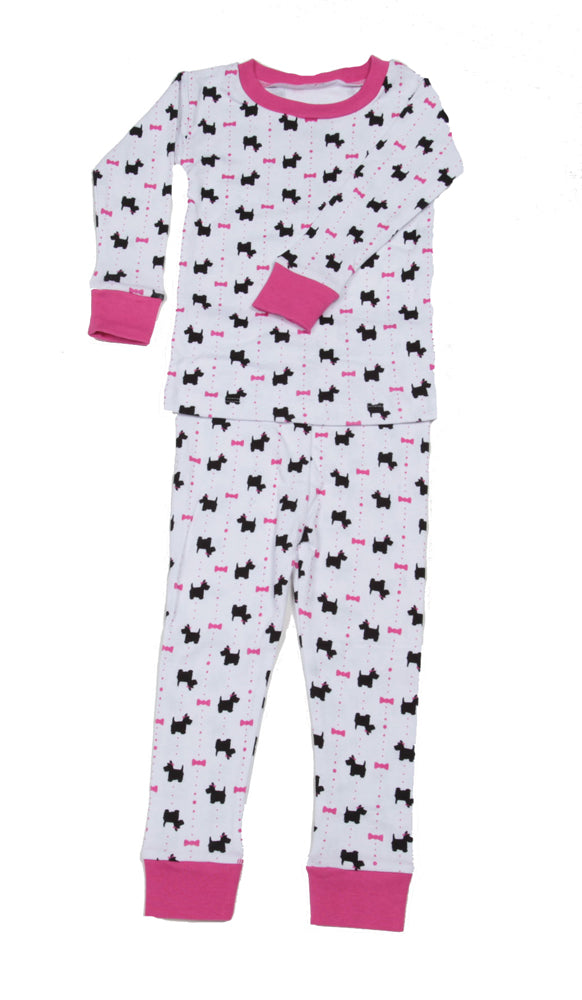 Scotties and Bows Organic Pajamas