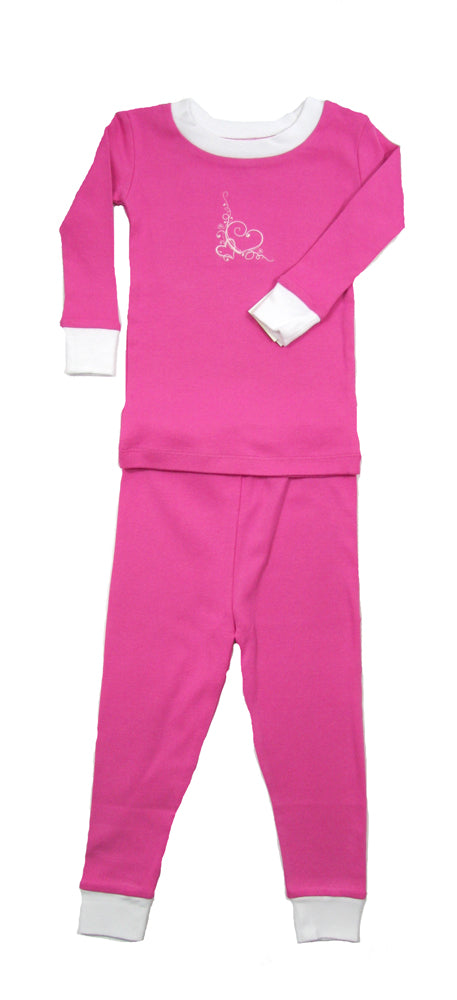 Swirly Heart Organic Pajamas