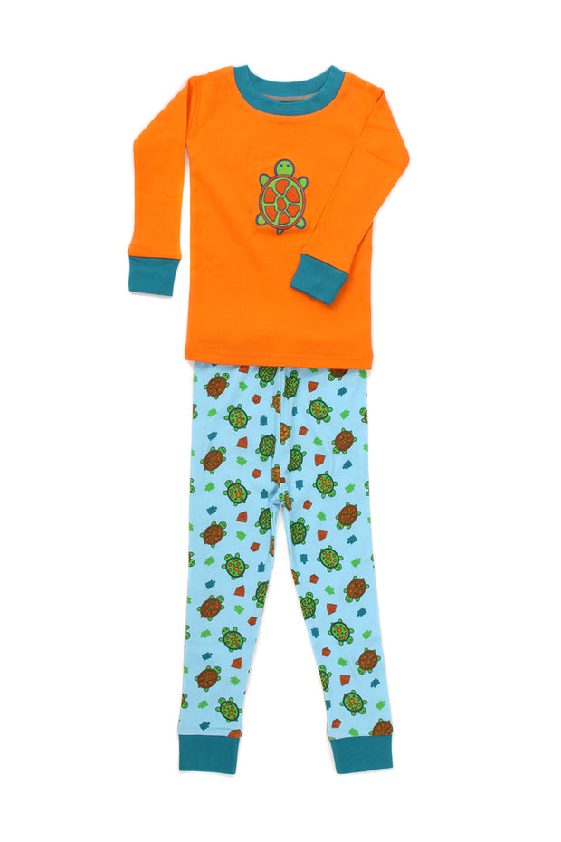 Turtles Organic Pajamas PERSONALIZED