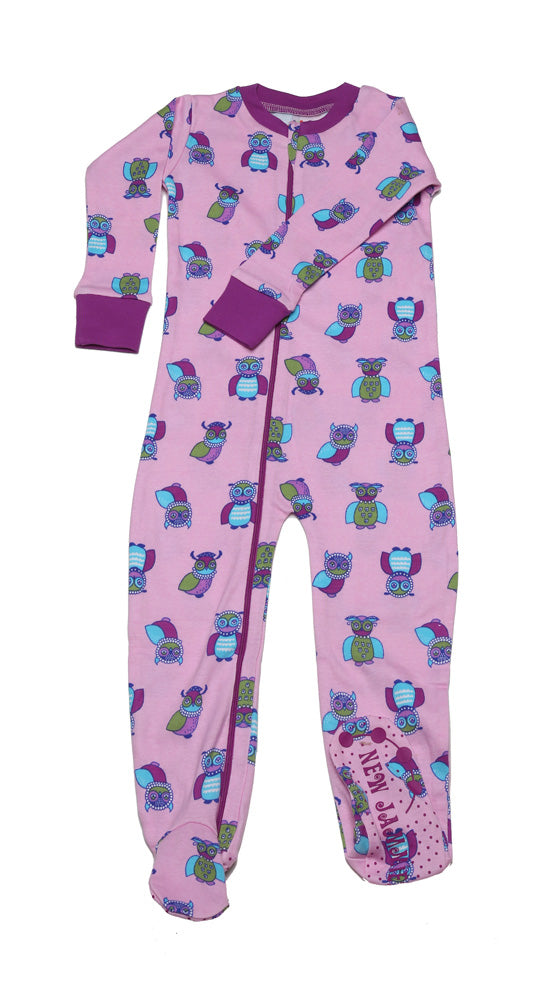 Wise Owls Toddler Footie