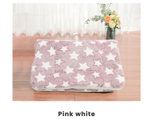 S/M/L/XL/XXL/XXXL Thickened Pet Soft Fleece Pad Blanket