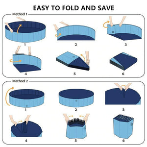 Portable and Foldable PVC Pet Bathtub Swimming Pool