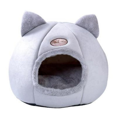 Cat Cave Bed House Plush Indoor Cozy with Removable Soft Mat Cushion