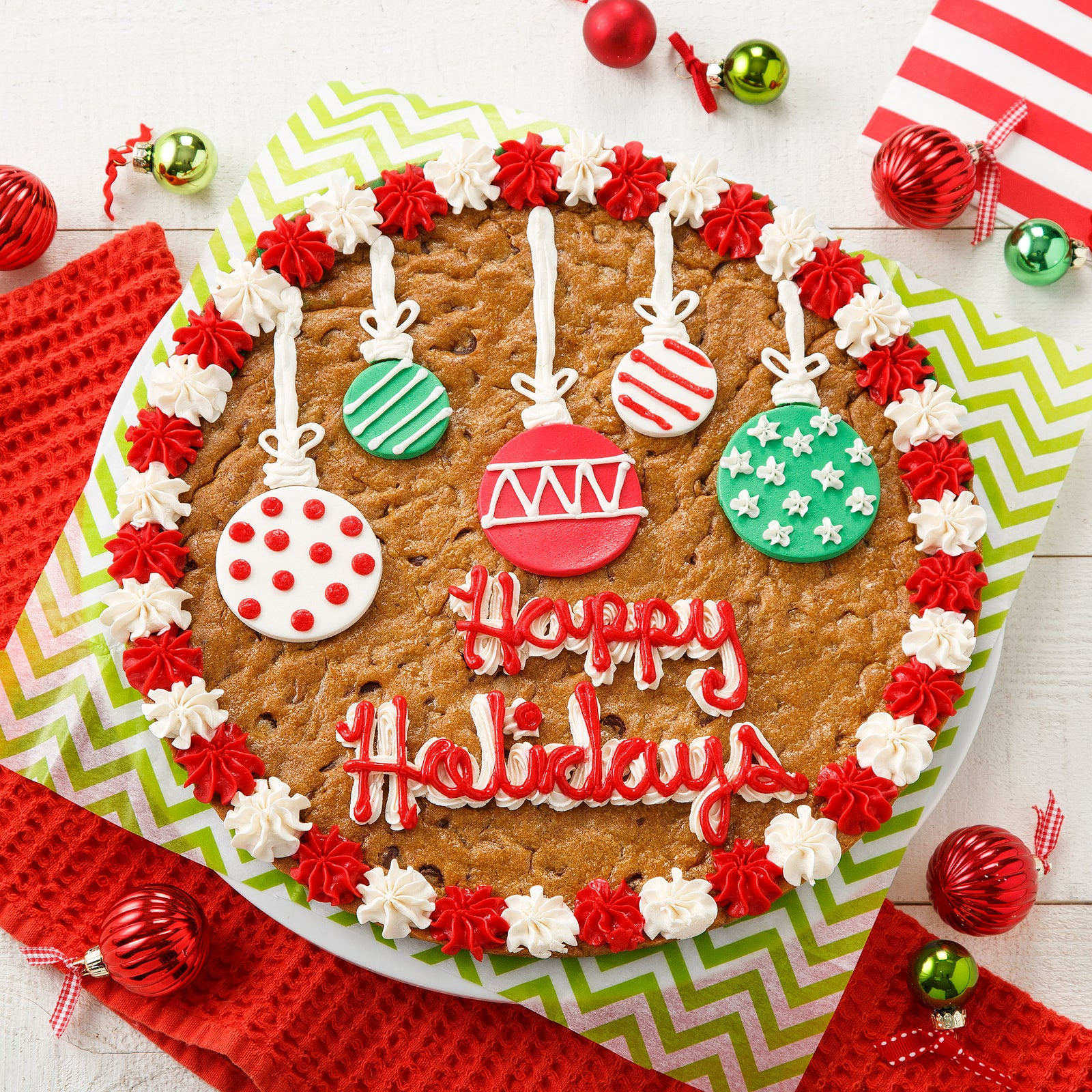 "Mrs. Fields 12"" Holiday Ornament Cookie Cake"