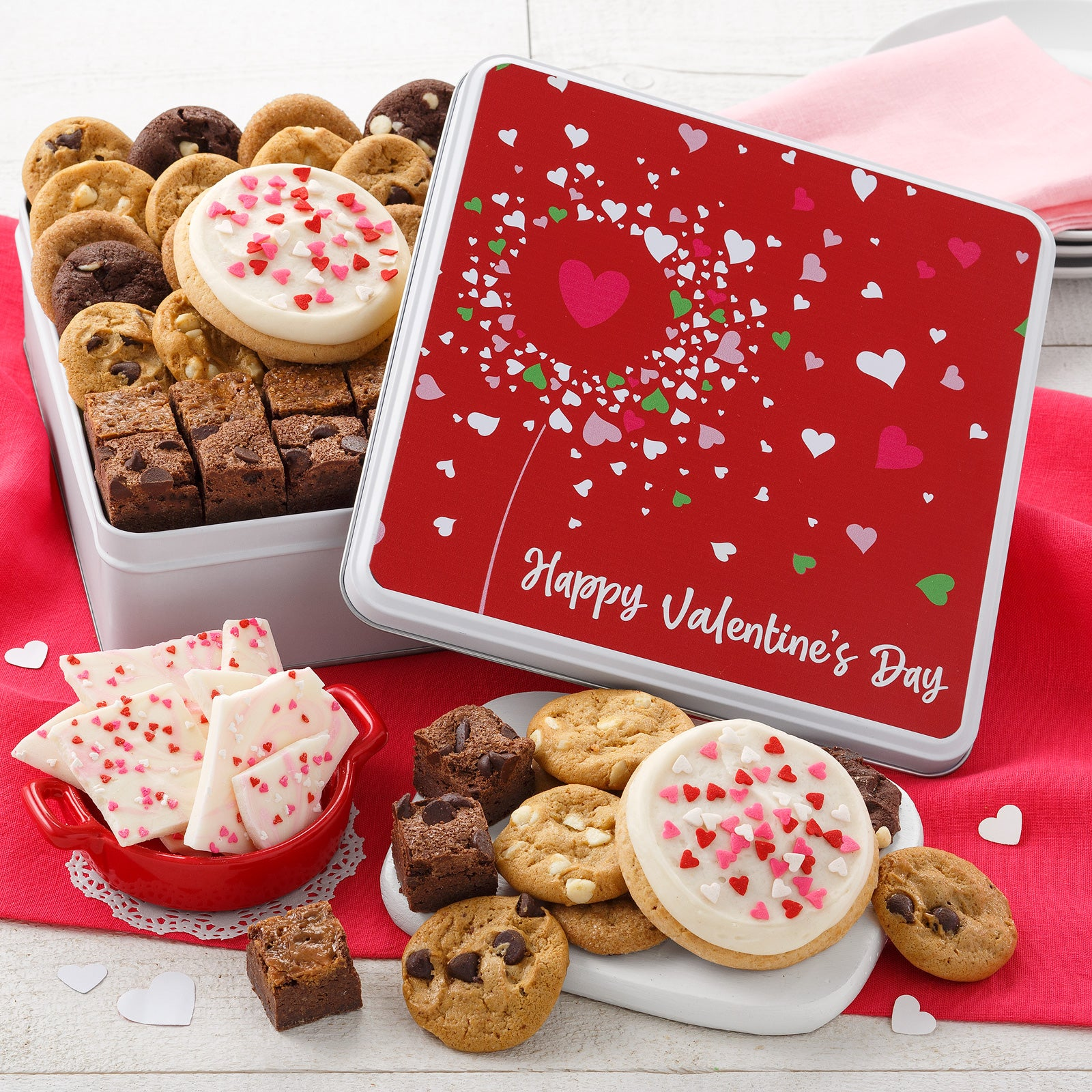 Mrs. Fields Happy Valentine's Day Combo Cookie Tin