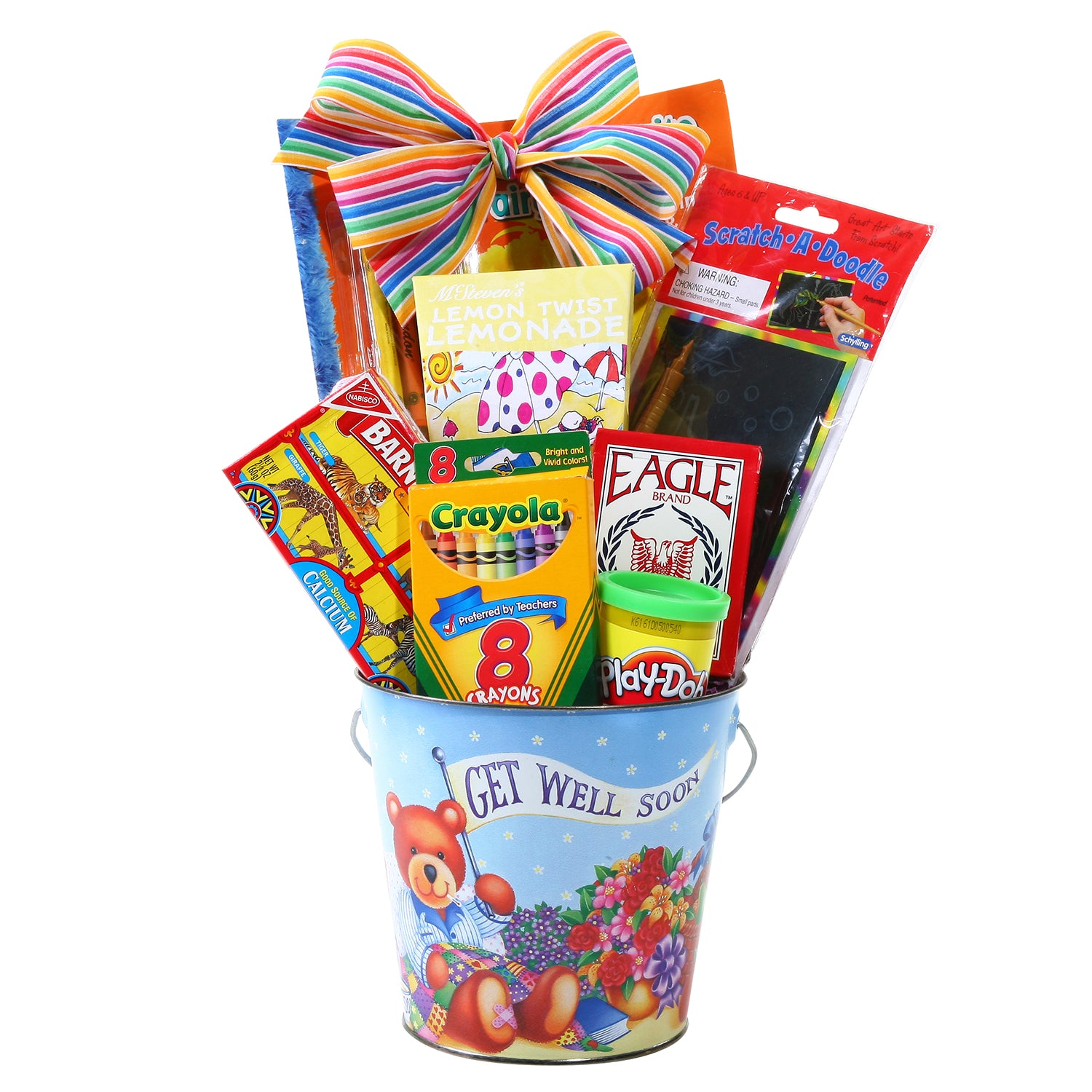 Kid's Get Well Soon Gift Basket FG06415