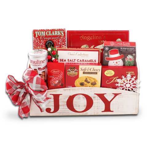 Joy Wooden Gift Crate