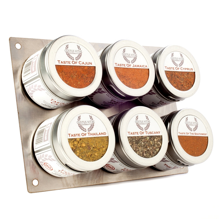 Cuisines of the World Gourmet Spice Blends - 6 Tins