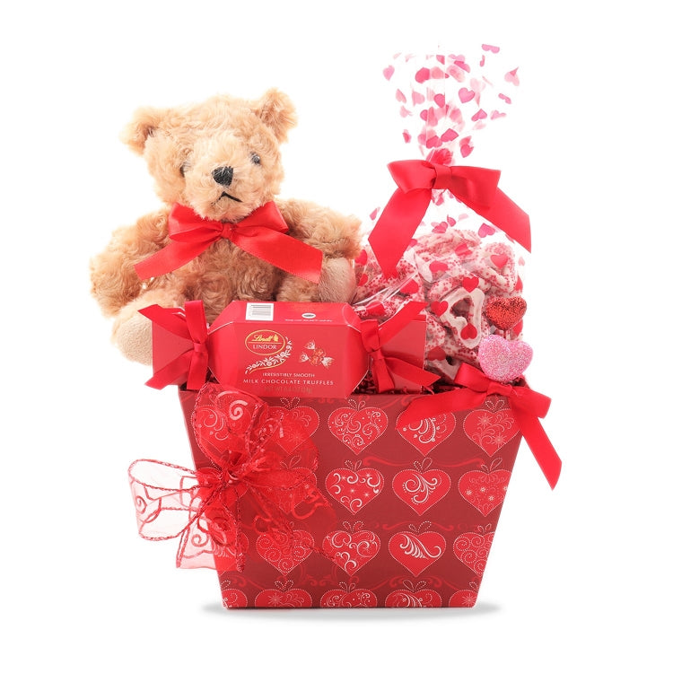 True Love Bear Gift Basket