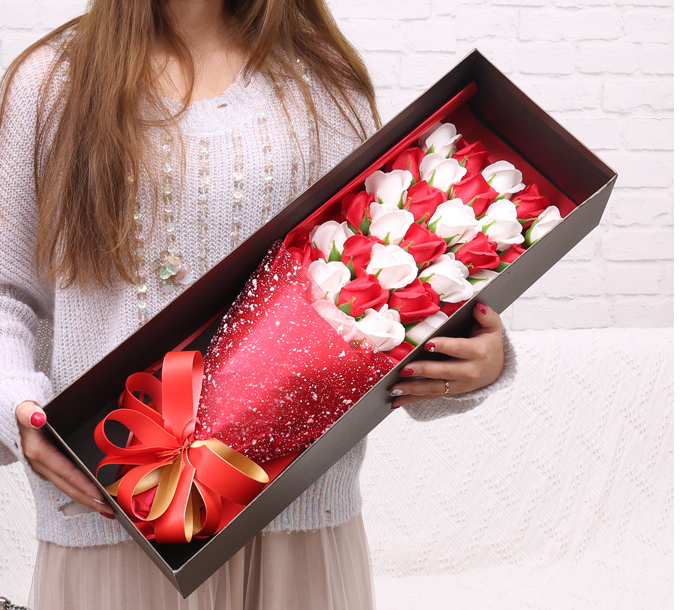 33 Soap flower roses perfect to anniversary birthday valentines for her comes with gift box