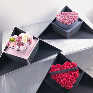 Soap Flowers Heart Shaped Surprise Gift Box