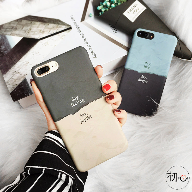 Simple Two Colored Iphone Cases