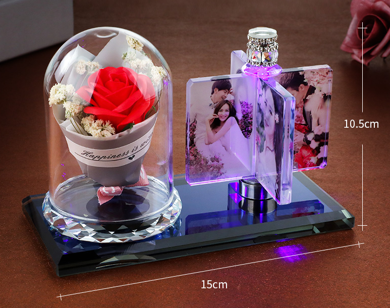 Romantic Creative DIY customize LED rotating Photo Frame