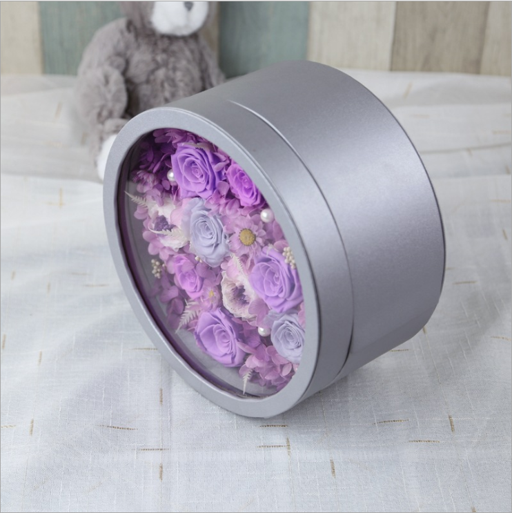 Preserved Roses with LED light circular shape gift perfect for anniversary birthday valentines Christmas any holidays