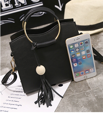 Ring Style Handle Handbag