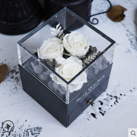 Preserved Flowers Jewelry Gift Box