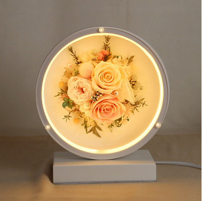 Preserved Real Flowers Warm Soft  Light Table Lamp Desk Lamp Bedside Lamp Nightstand Lamp