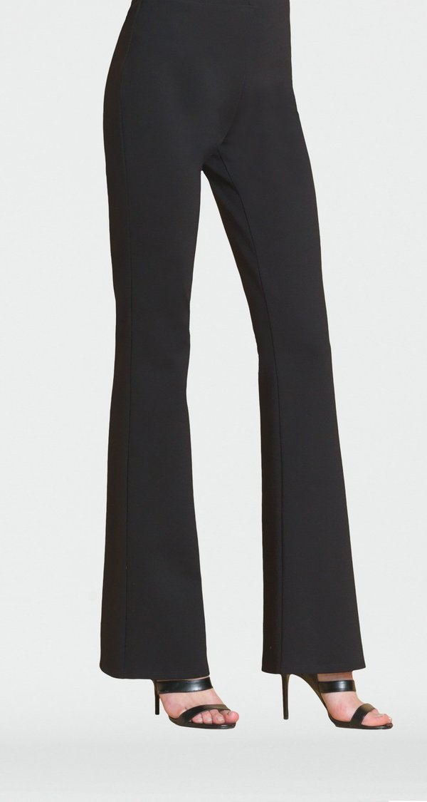 Black Ponte Pull-On Bootcut Pant