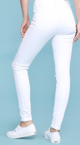 Judy Blue Curvy White Destroyed Skinny Jean