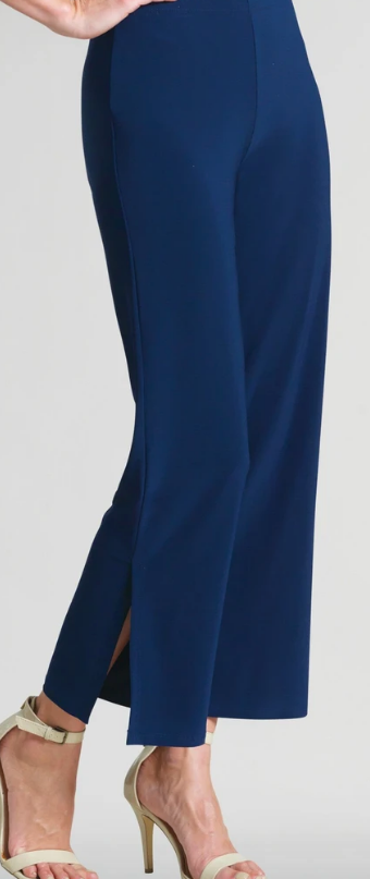 Navy Side Slit Pant