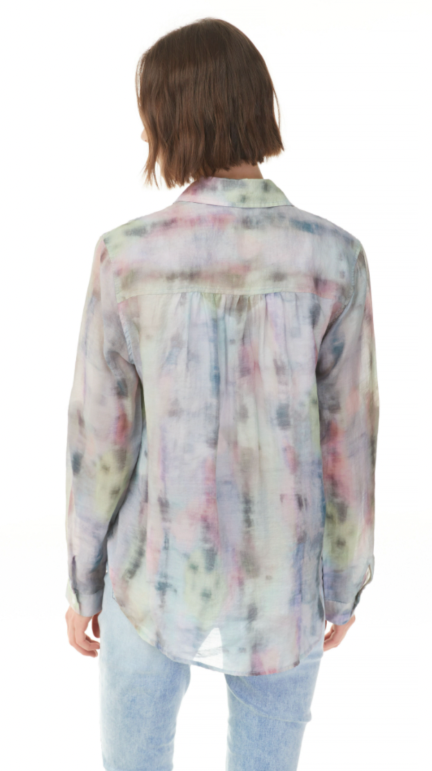 Charlie B Watercolor Tie-Dye Blouse