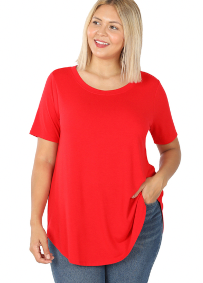 Curvy Everyday Tee - Red