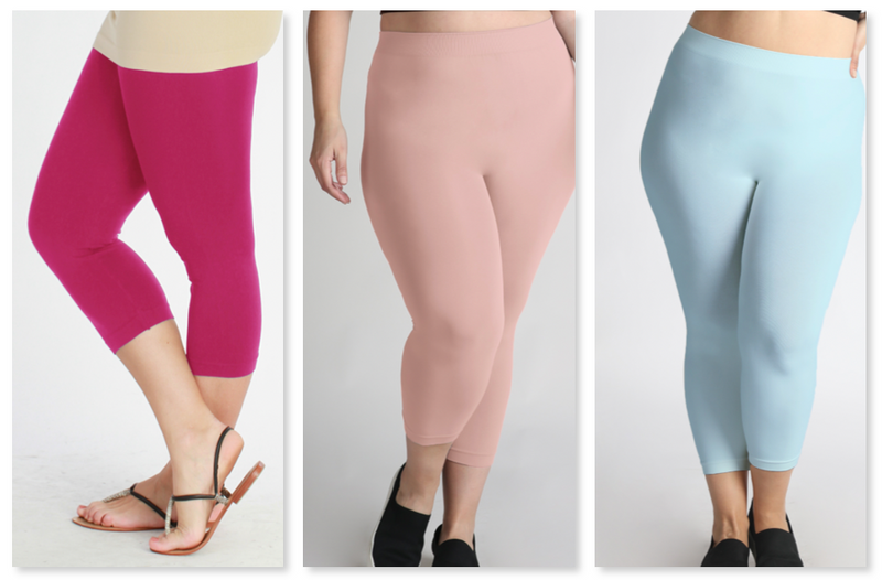Nikibiki Curvy Capri Leggings (Multiple Colors)
