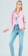 Pink Liquid Leather Jacket